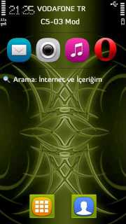 Green Tribal Mobile Theme