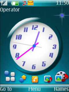 Iconic Clock Mobile Theme