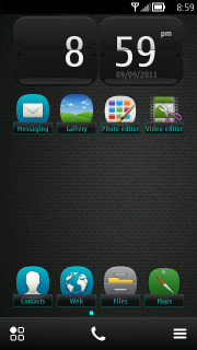 Melo Blue Mobile Theme