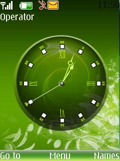 Green Clock Mobile Theme