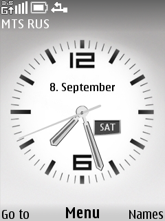 Analoge Clock Mobile Theme