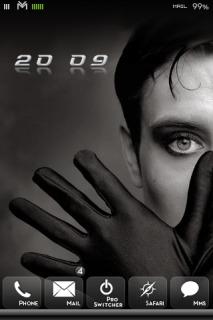 DBar Black Glove Mobile Theme