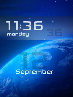 Space 3D Clock Mobile Theme