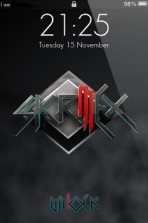 Skrillex Lockscreen Mobile Theme