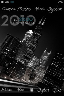 Dbar City Night Mobile Theme