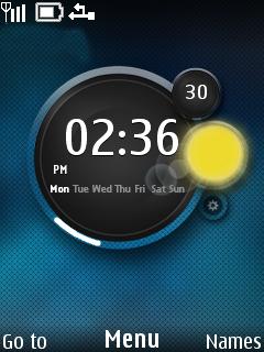 Weather Clock Mobile Theme
