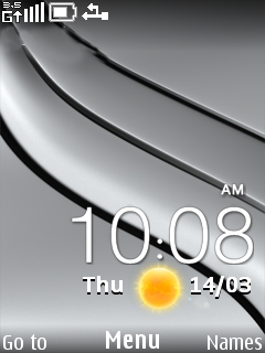 HTC Butterfly Clock Mobile Theme