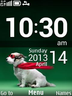 Super Hero Clock S40 Theme Mobile Theme