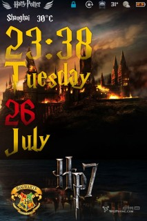 Hp7 Fire Castle IPhone Theme Mobile Theme