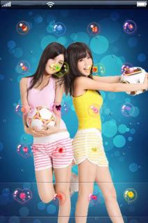 Football Asian Girls IPhone Theme Mobile Theme