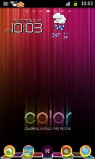 Colorful Art Clock For Android Theme Mobile Theme
