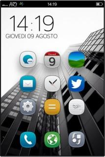 Buildings Hug Clock IPhone Theme Mobile Theme