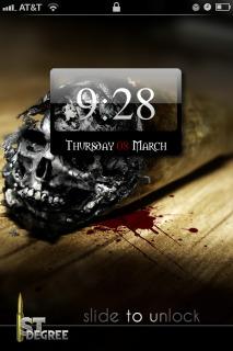 Skull Head & Blood IPhone Theme Mobile Theme