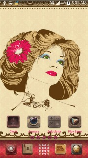 Beauty Flower On Hairs For Android Theme Mobile Theme