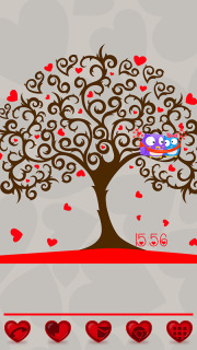 3D Love Tree For Android Theme Mobile Theme