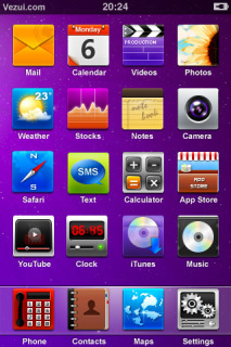 Purple Background IPhone Theme Mobile Theme