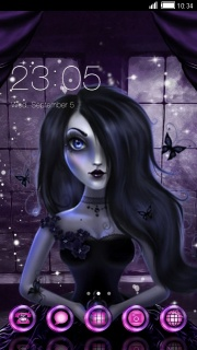 Gothic Doll Purple Android Theme Mobile Theme