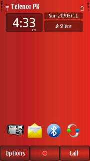 Lovely Red Color S60v5 Theme Mobile Theme
