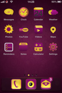 Purple Ground HD 3D IPhone Theme Mobile Theme