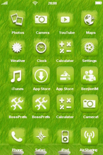 Green 3D Background IPhone Theme Mobile Theme