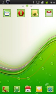 Green Vector & Bubble Android Theme Mobile Theme