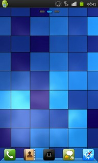 3D Blue Block &Pixels Android Phones Mobile Theme