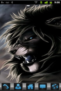 Black Danger Lion For Android Phone Mobile Theme