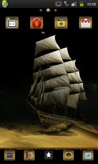 Ship & Desert Android Theme Mobile Theme