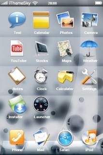 Bubble White Setting IPhone Theme Mobile Theme