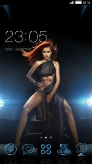 Clock Dancing Girl Android Theme Mobile Theme