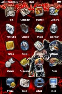 Davil Girl Red IPhone Theme Mobile Theme