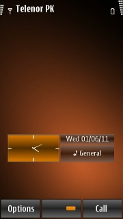 Simple Brown Abstract S60v5 Theme Mobile Theme