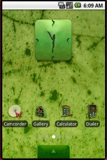 Mysterious Garden Clock Android Theme Mobile Theme