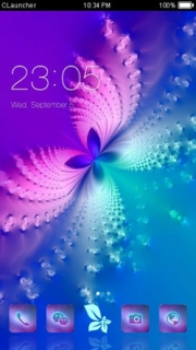 Colorful Abstract Butterfly Android Theme Mobile Theme