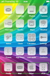Colorful Lines 3D IPhone Theme Mobile Theme