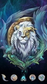 King Lion 3D Digital Android Theme Mobile Theme