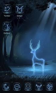 Blue Transparent Deer Android Theme Mobile Theme