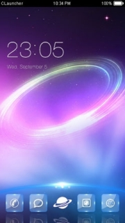 Space Colors 3D Free Android Theme Mobile Theme