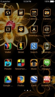 Golden Flowers Fantasy Android Theme Mobile Theme
