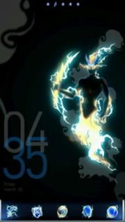 Thunder Dark & Time Android Theme Mobile Theme