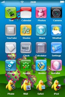 Flying Jet Ducks IPhone Theme Mobile Theme