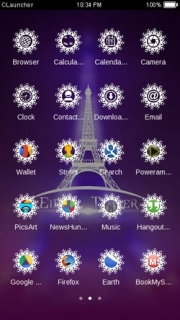 Eiffel Tower Purple Cute Android Theme Mobile Theme