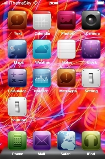Colors Design Lines Icons IPhone Theme Mobile Theme