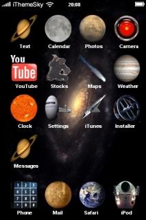 Dark Sky Cool IPhone Theme Mobile Theme