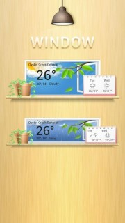 Download Window Weather Widget Clock Android Thems HTC Theme