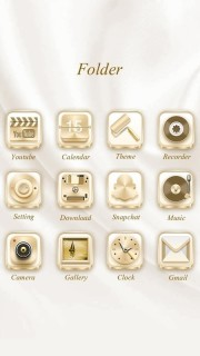 Beautiful Gold Android Mobile Theme Mobile Theme