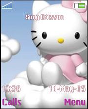 Hello Kitty Blue Angel Theme Mobile Theme