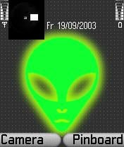 Alien Green Theme Mobile Theme