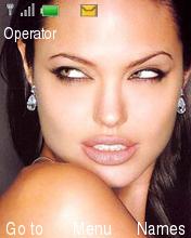 Angelina Jolie Theme Mobile Theme