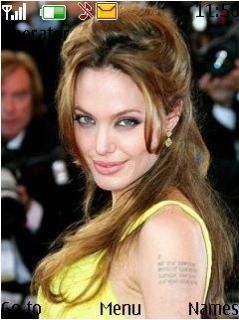 Angelina Jolie Hot Nice And Cute Nokia Theme Mobile Theme